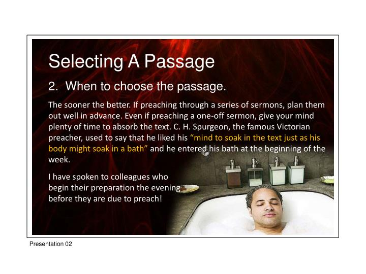 Selecting A Passage