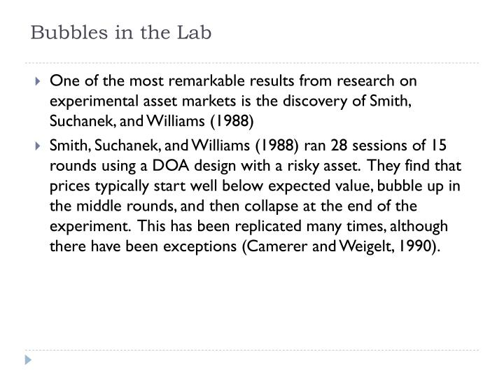 Bubbles in the Lab