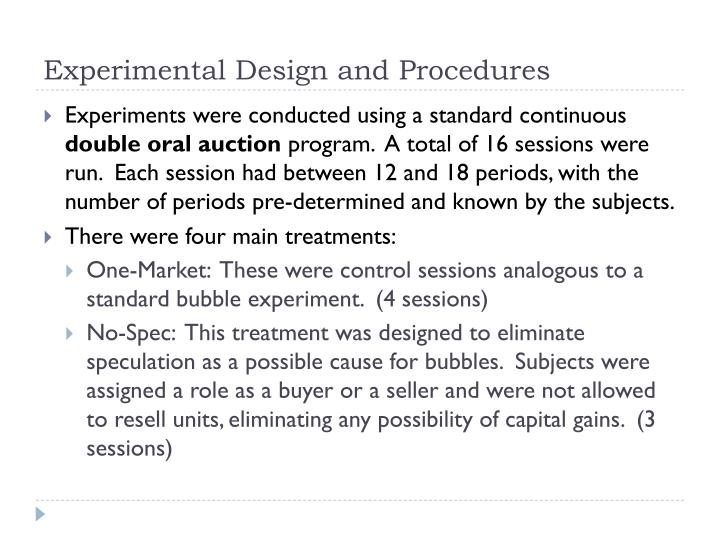 Experimental Design and Procedures