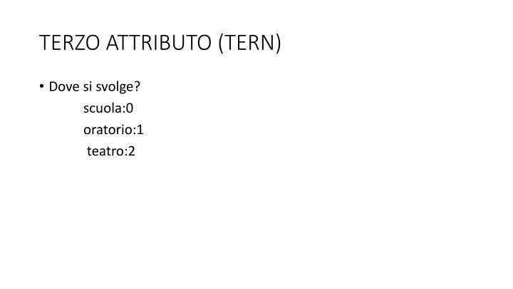 TERZO ATTRIBUTO (TERN)