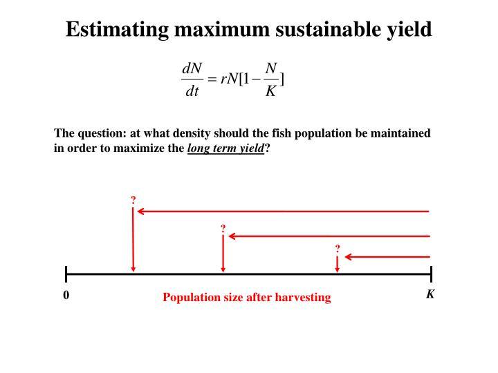 Estimating maximum sustainable yield