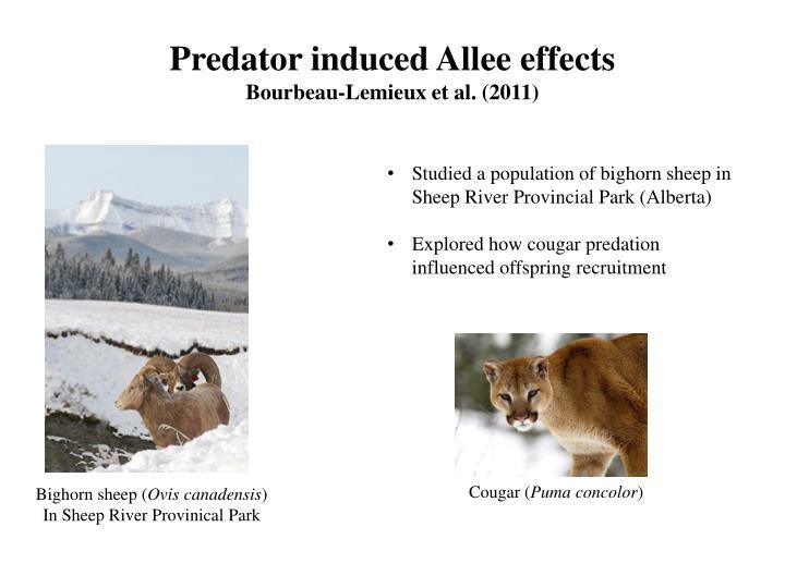 Predator induced