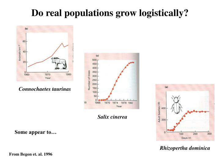Do real populations grow logistically?