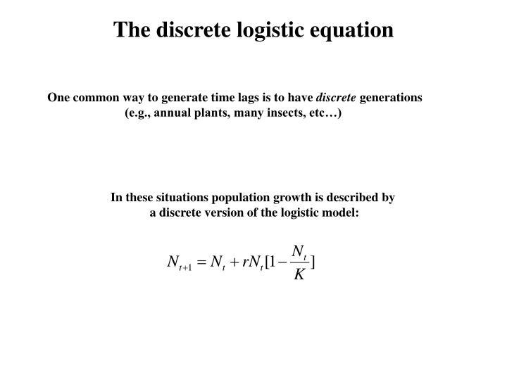 The discrete logistic equation