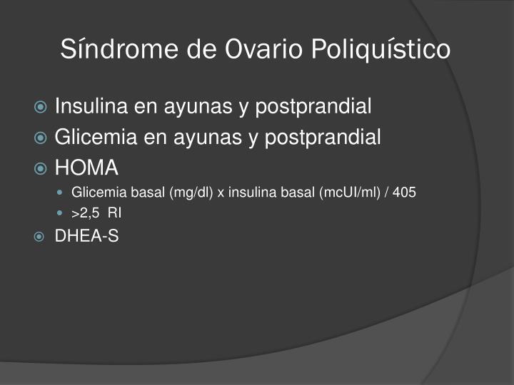 Síndrome de Ovario