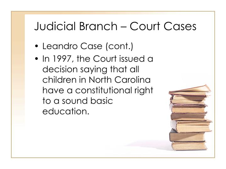 Judicial Branch – Court Cases