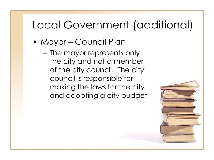 Local Government (additional)