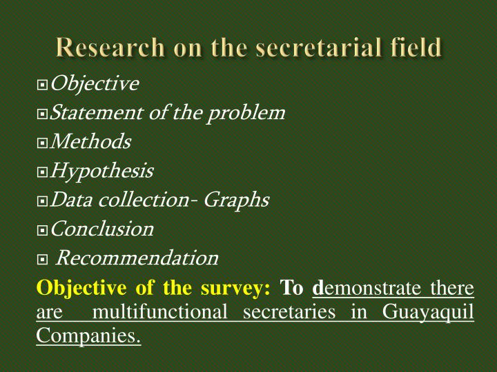 Research on the secretarial field