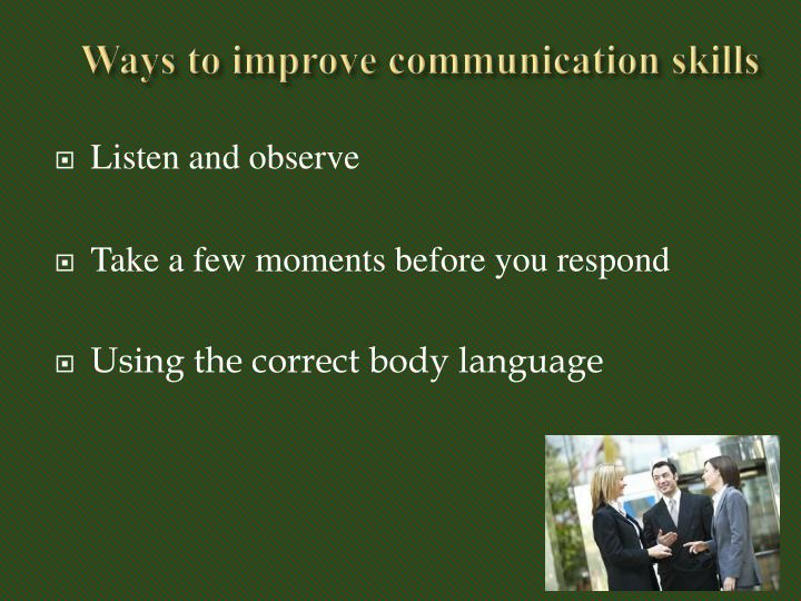 Ways to improve communication skills