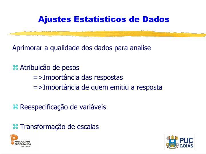 Ajustes Estatísticos de Dados