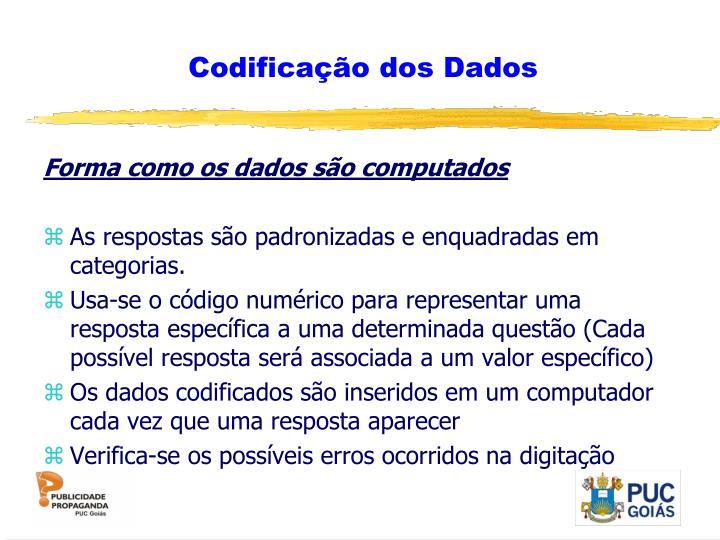 Codificação dos Dados