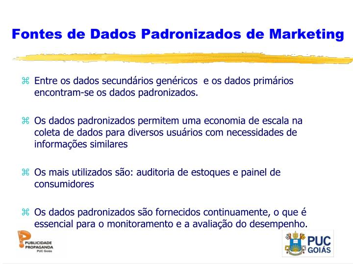 Fontes de Dados Padronizados de Marketing
