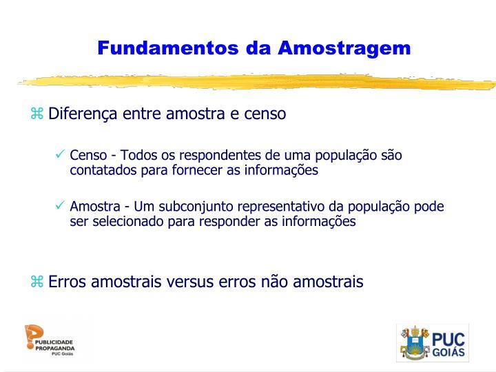 Fundamentos da Amostragem