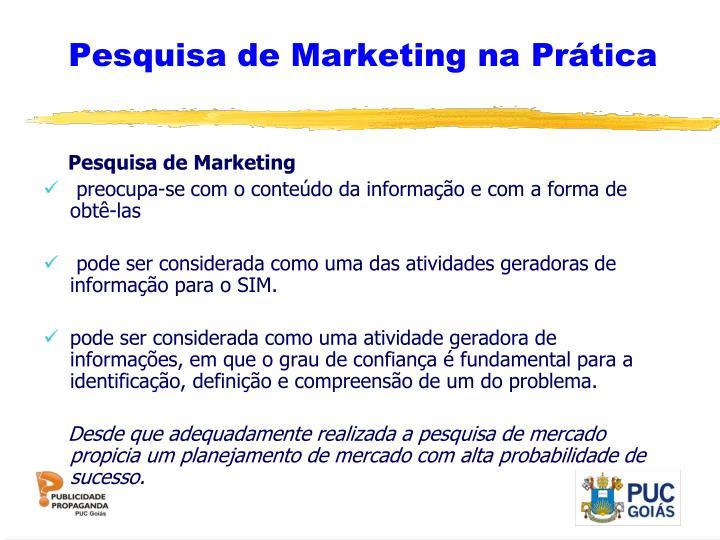 Pesquisa de Marketing na Prática