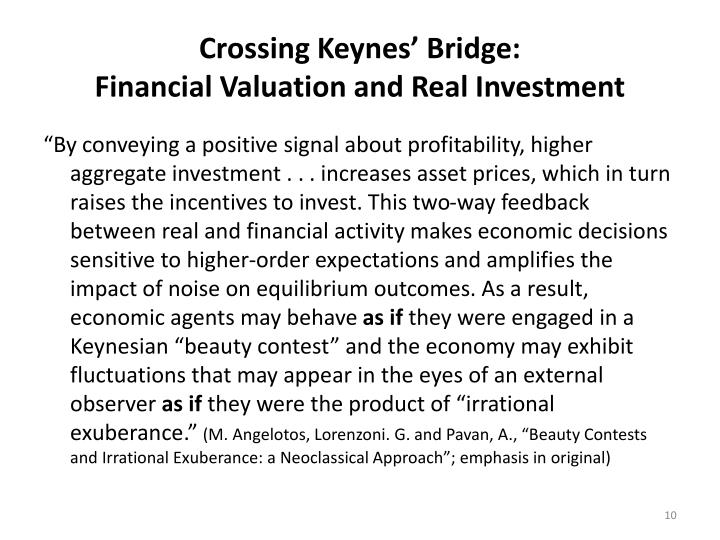 Crossing Keynes' Bridge: