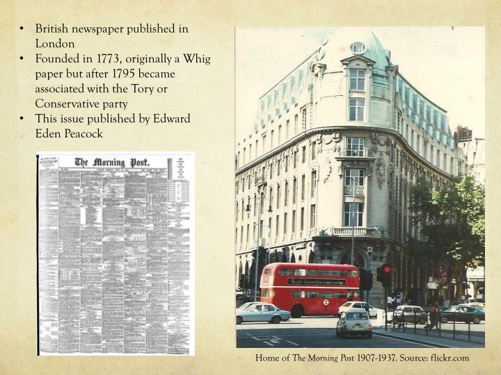 British newspaper published in London