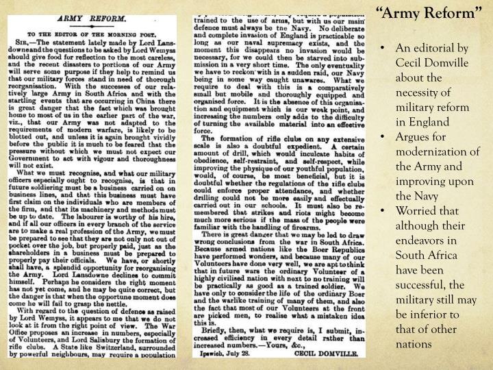 """""""Army Reform"""""""