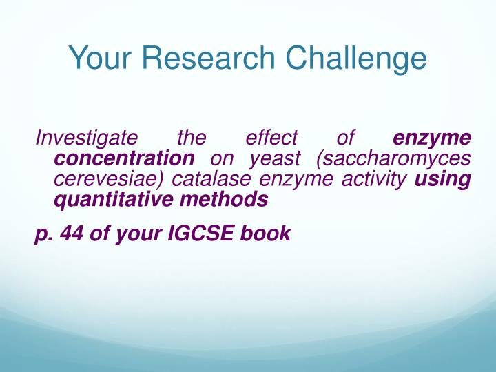 Your Research Challenge