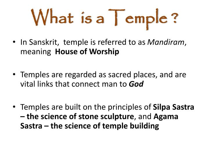 What is a temple