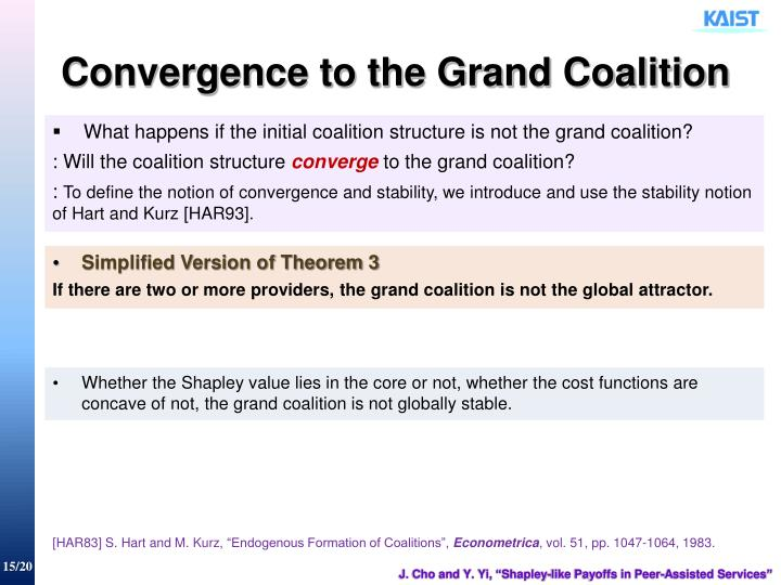 Convergence to the Grand Coalition