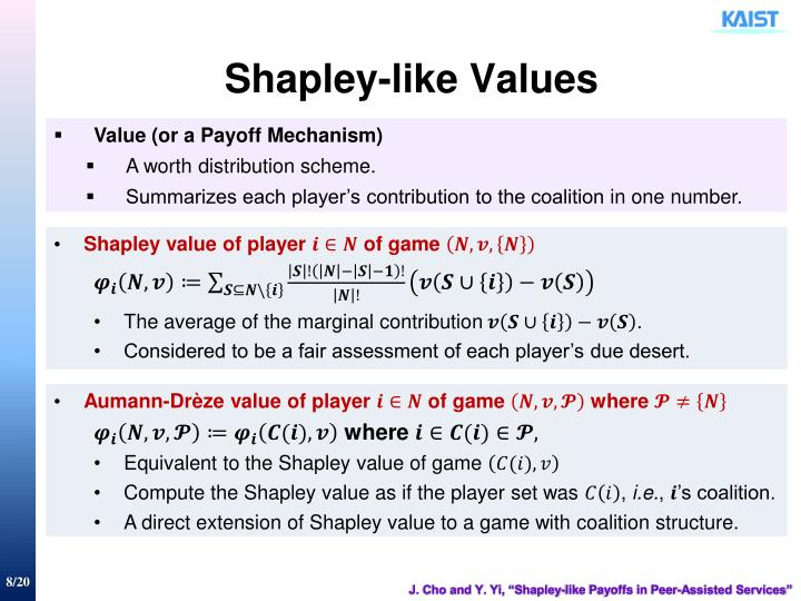 Shapley-like Values