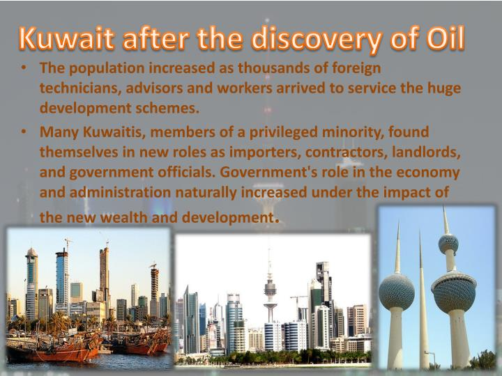 Kuwait after the discovery of Oil