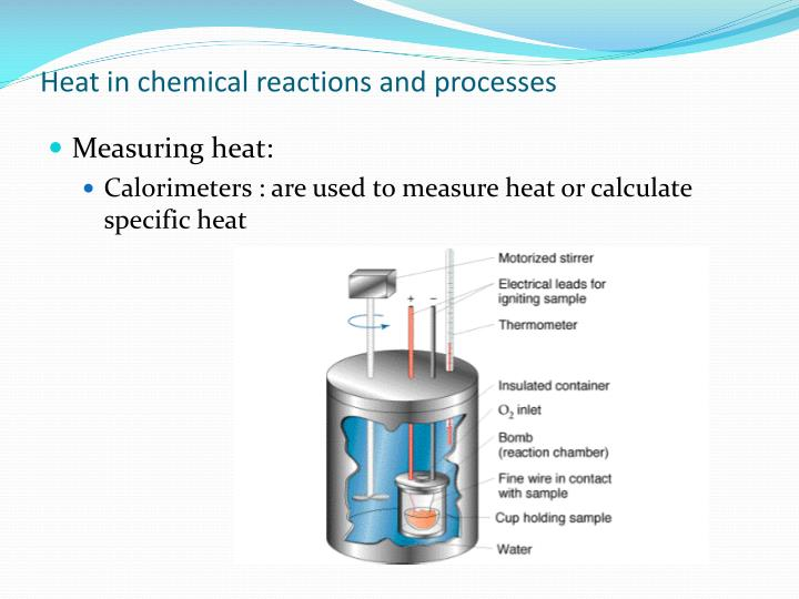 Heat in chemical reactions and processes