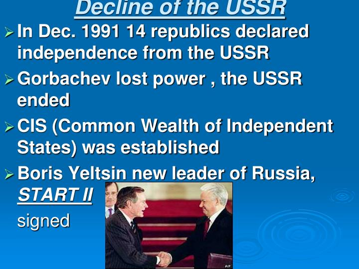 Decline of the USSR