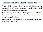 enhanced entity relationship model