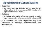 specialization generalization