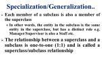 specialization generalization1