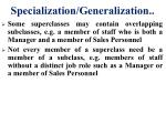 specialization generalization2