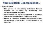 specialization generalization9