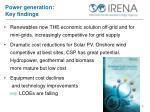 power generation key findings