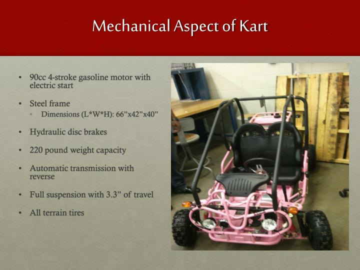 Mechanical Aspect of Kart