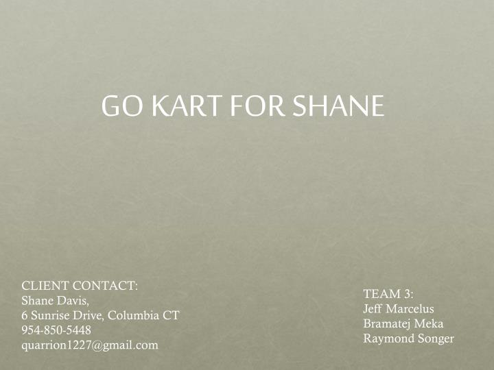 GO KART FOR SHANE
