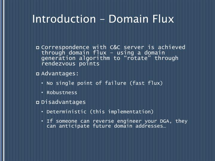 Introduction – Domain Flux