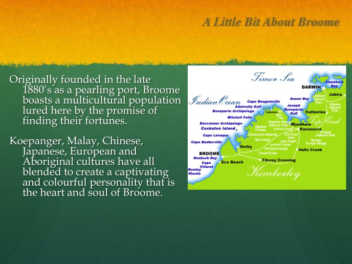 A Little Bit About Broome
