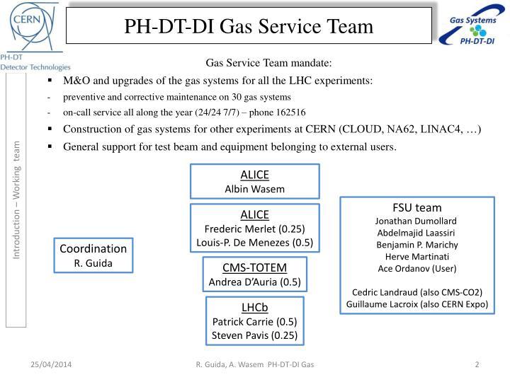 PH-DT-DI Gas Service Team