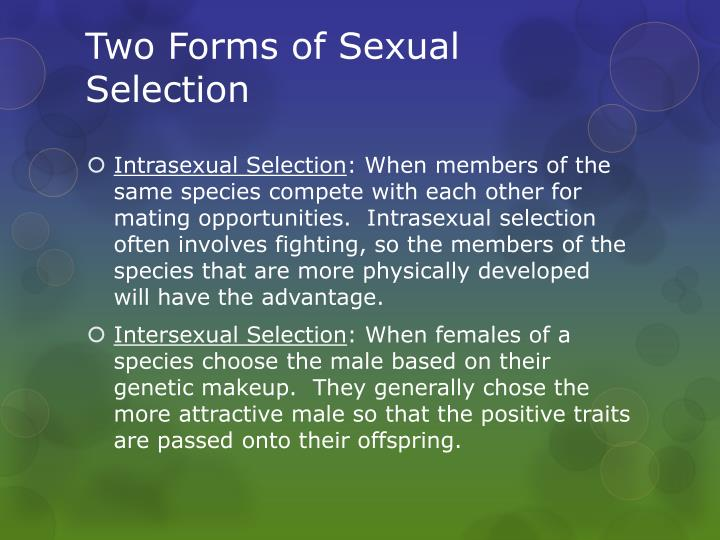 Two forms of sexual selection