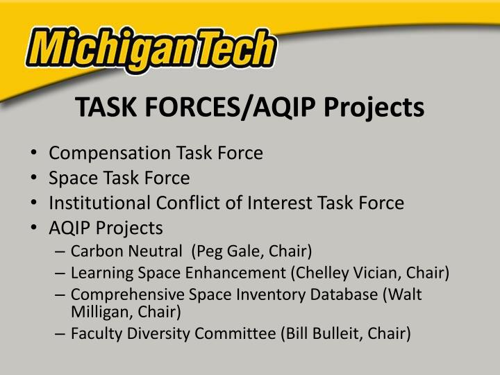 TASK FORCES/AQIP Projects