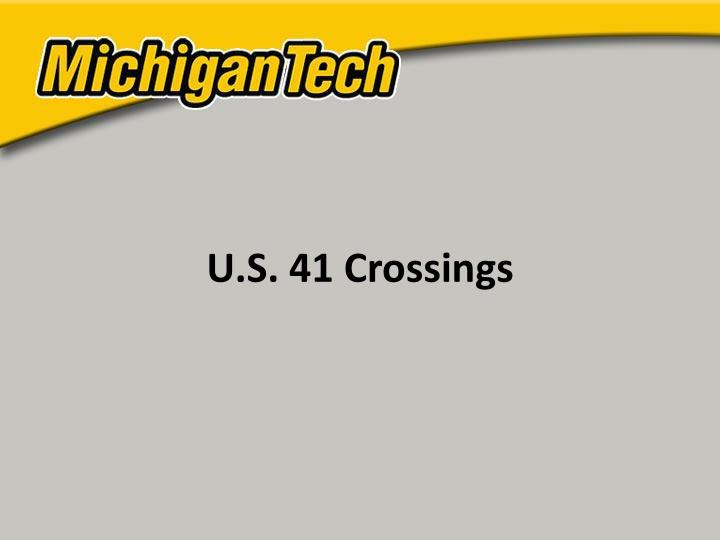 U.S. 41 Crossings
