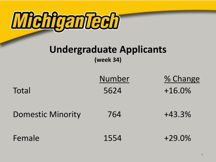 Undergraduate Applicants