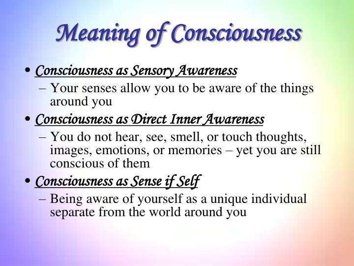 Meaning of Consciousness