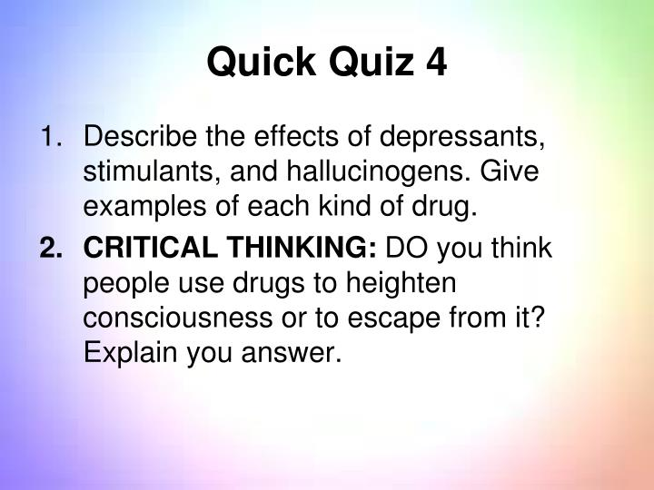 Quick Quiz 4