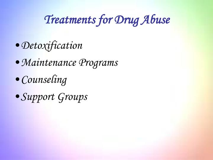 Treatments for Drug Abuse