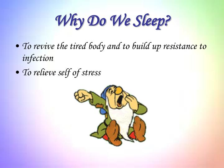 Why Do We Sleep?