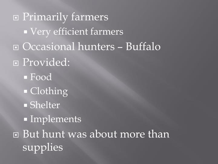 Primarily farmers