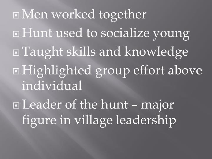 Men worked together