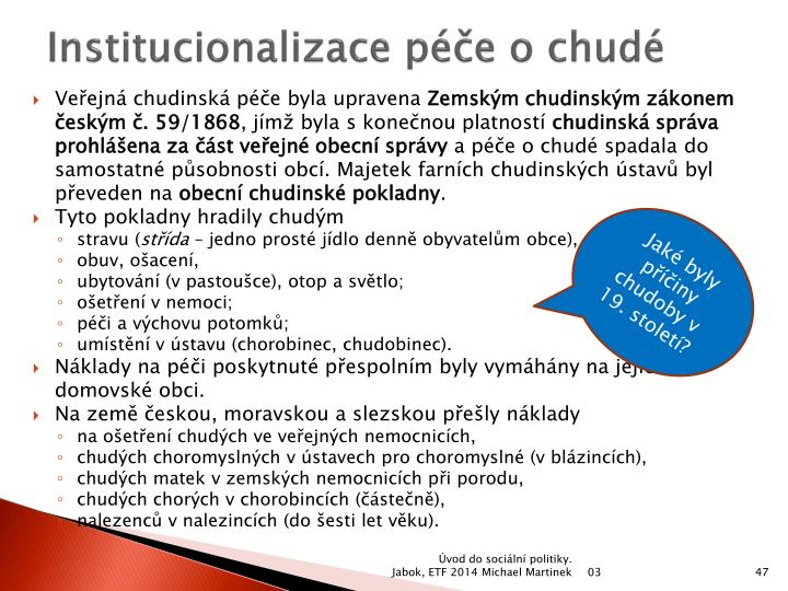 Institucionalizace